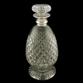 George V Silver Mounted Decanter