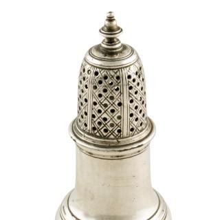 George II Sterling Silver Pepper Caster