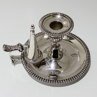 George III Antique Sterling Silver Chamberstick London 1813 John Craddock & William Reid