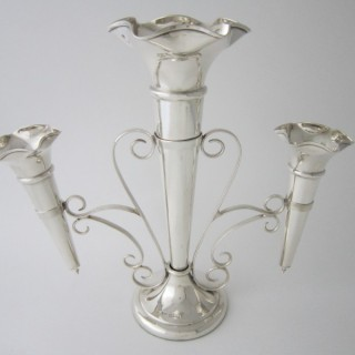 Antique George V Sterling silver epergne