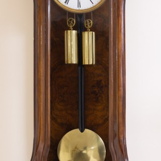 Art Nouveau Double Weight Vienna Regulator Wall Clock