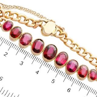 12.84 ct Garnet and 9 ct Yellow Gold Bracelet - Antique Circa 1920