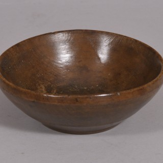 Antique Treen Early 19th Century Sycamore Cawl Bowl