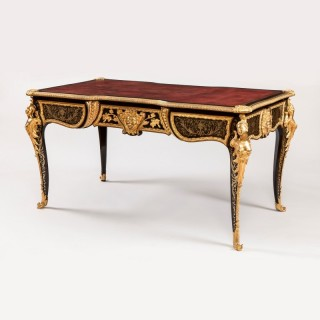 A Fine Bureau Plat in the Manner of André-Charles Boulle