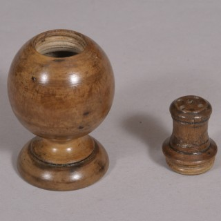 Antique Treen 19th Century Sycamore Spice or Pepper Pot