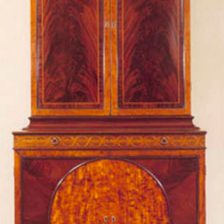 George III Mahogany and Satinwood Cabinet by John Linnell from Castle Howard