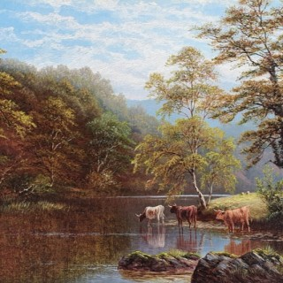 Rydal Lake, Westmorland & On the Wharfe, Bolton Woods, Yorkshire (A Pair)