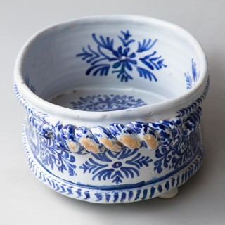 A NEVERS FAIENCE 17TH C.  JARDINIERE