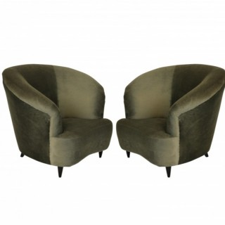 A PAIR OF MID CENTURY LOUNGE CHAIRS BY PARISI