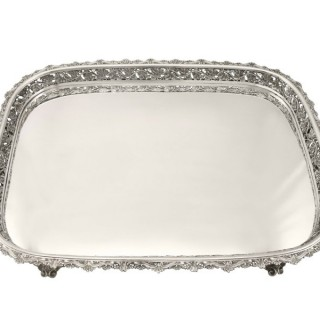Continental Silver Tea Tray - Antique Circa 1920