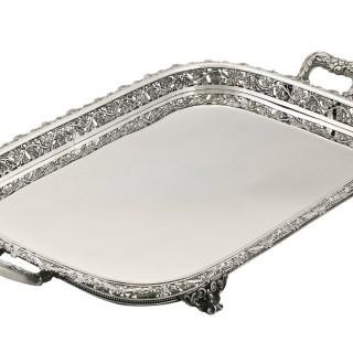 Continental Silver Tea Tray - Antique Circa 1920