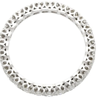 1.25ct Diamond and 18ct White Gold Full Eternity Ring - Vintage Circa 1950