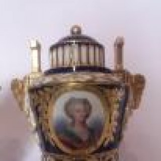 Fine Pair Of 19th Century Sevres Vases Marie Antoinette Louis XVI