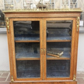 Fine Quality 19th Century English Walnut Bookcase