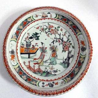 Kangxi Famille Verte Deep Charger c1700