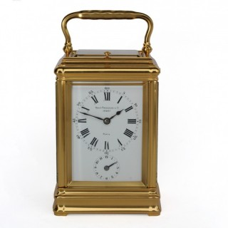 Strike repeat Alarm Carriage Clock by Drocourt for Charles Frodsham