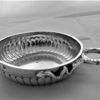Super quality French silver wine taster C1752 Paris