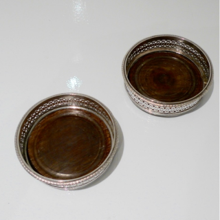 Antique Pair French Silver Coasters Circa 1800 Louis-Jaques Berger