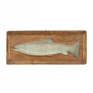 Antique Carved Fish Model