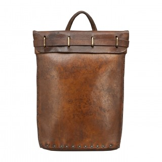 Brown Leather Briefcase Or Mail Bag