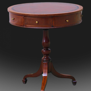 George III small Sheraton period revolving Drum table