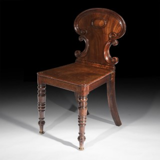 Fine Pair of Regency Hall Chairs