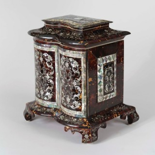 An Exhibition Quality Inlaid Table Cabinet