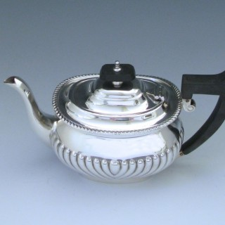 A Sterling Silver Edwardian Tea Pot by William & George Sissons made in 1908