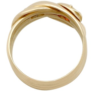 18 ct Yellow Gold Snake Ring - Vintage 1945