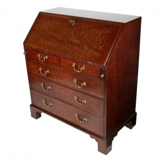 Georgian 'Plum Pudding' Mahogany Bureau