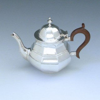 Sterling Silver Edwardian Tea Pot made in 1902