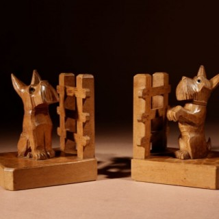An Amusing Pair Of Black Forest Bookends, Circa 1920.