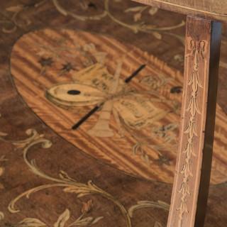 Fine Sheraton Style Oval Coffee Table
