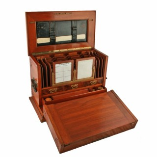 Victorian Walnut Stationery Cabinet