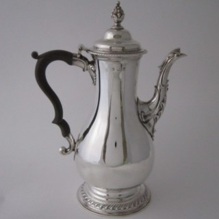 Antique George III Sterling silver coffee pot