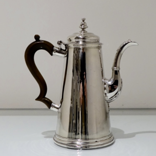 George II Sterling Silver Coffee Pot London 1735 Thomas Farren