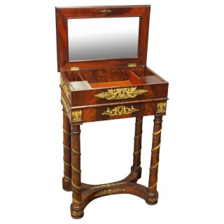 Empire Revival Necessaire Table or Dressing Table