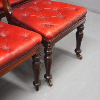 Set of 6 Edinburgh Style Mahogany Dining or Library Chairs