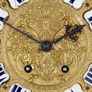 Very large French Louis XV style ormolu mantel clock