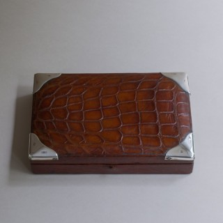 Crocodile Skin Cufflink Box