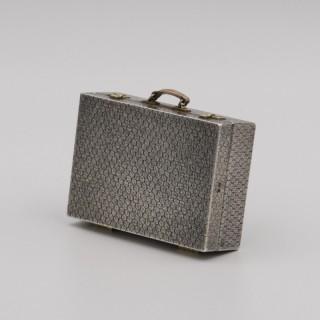 Miniature Silver Suitcase