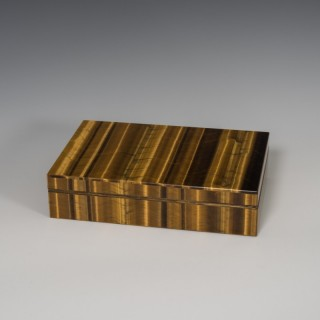 Tiger's Eye Stone Box
