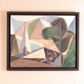 Mid 20th Century Oil on Canvas by A. Burbank
