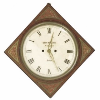 Rare Wilkins Diagonal Wall Clock