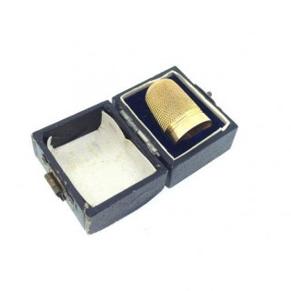 9ct Gold Thimble.