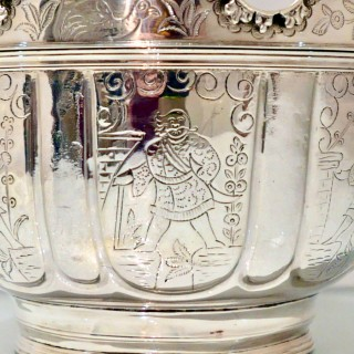 19th Century Antique Victorian Sterling Silver Monteith Bowl London 1899 D & J Welby