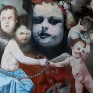 Beth Carter; A Peck of Trouble; Conte & Pastel on Paper; 2011; Unique