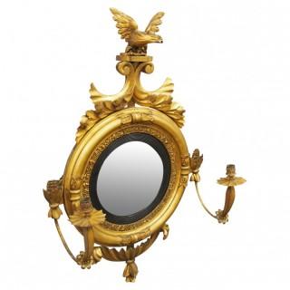 Irish Regency Convex Mirror