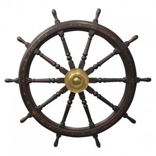 Large Oak Ships Wheel