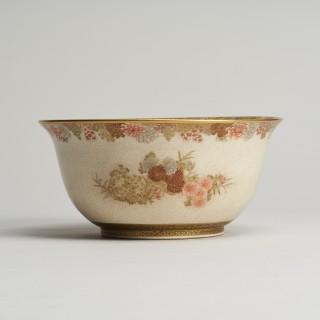 A Japanese Meiji Period Satsuma bowl signed Seikozan